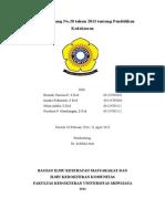 Tugas UU Dikdok KKS Periode 10 Februari-21 April 2014