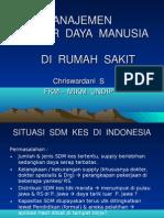 Manajemen Sumber Daya Manusia Di Rumah Sakit - Chriswardani s
