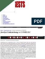 Jocelyn Limkaichong vs COMELEC | Uber Digests