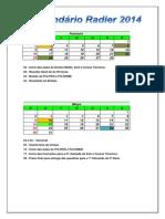 Calendário Interno Radier 2014