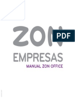 Manual ZON Office Com Fios