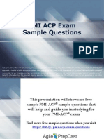 PMI ACP Exam Sample Questions