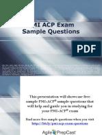 PMI ACP Exam Sample Questions