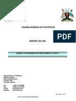 UGANDA BUREAU OF STATISTICS CENSUS OF BUSINESS ESTABLISHMENTS, 2010/11 REPORT ON
