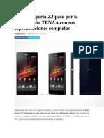 El Sony Xperia Z3 Pasa Por La Certificación TENAA Con Sus Especificaciones Completas