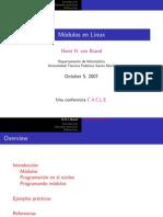 linux modulos