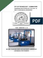 Fluid Mechanics and Hydraulic Machinery Lab Manual