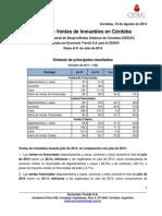 CEDUC - Indice de Ventas de Inmuebles 2014 07 - Informe de Difusión