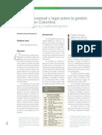 Marco Conceptual y Lgal Sobre La Gestion Del Riesgo en Colombia