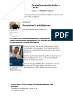 2014-03 Lese-Empfehlung zu Christoph Wonneberger