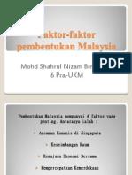 Faktor-faktor Pembentukan Malaysia