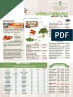 MWF Weekly Updates 08-16-14