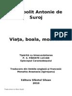 Mitropolitul Antonie de Suroj - Viața, boala, moartea