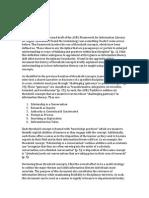 acrl framework reflection