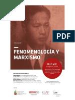 Programa Fenomenología y Marxismo Con Resúmenes