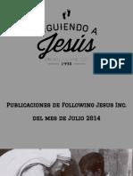 Following Jesus Inc.  Julio 2014