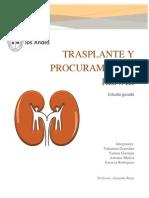 Enfermeria en El Proceso de Trasplante y Procuramiento