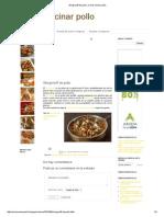 Strogonoff de Pollo _ Como Cocinar Pollo