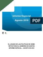 CINEP - Legado Uribe Retos de Santos 2010 Informe Especial