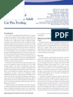 FELINE-The İnfluence of Imidaclopramid on adult cat flea feeding
