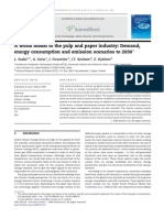 A World Model of the Pulp and Paper Industry Demand, Energy Consumption and Emission Scenarios to 2030