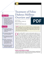 FELINE-Treatment of Feline Diabetes Mellitus Overview and Therapy
