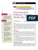 Gastrointestinal Pro Kinetic Therapy-Motilin-Like Drugs