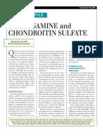GLUCOSAMİNE AND CHONDROİTİN SULFATE