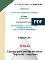 Liquidos Parcialmente Miscibles y Diagramas Triangulares -Fisicoquimica I