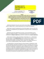 Retos y Estrategias Para La Administración Deportiva en Colombia