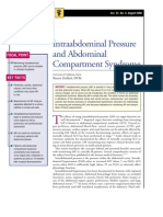 Intraabdominal Pressure and Abdominal Compartment Syndrome