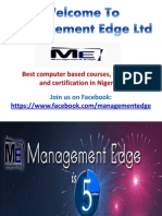 Management Edge Ltd - Best Computer Based Training Services in Nigeria