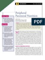 Peripheral Parental Nutrition