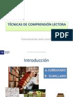 Tema 2 Tecnicas de Comprension de Lectura