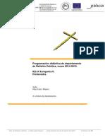 Programación Didáctica Relixión Católica 2014-2015