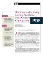 Respiratory Monitoring During Anasthesia Pulse Oximetry and Capnography