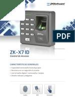 Control de Acceso Zk-x7-Id