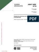 NBR 6118 - 2007 - Projeto de Estruturas de Concreto