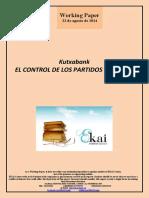 Kutxabank. EL CONTROL DE LOS PARTIDOS POLITICOS
