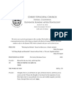 August 24 2014-11th Sunday After Pentecost Bulletin