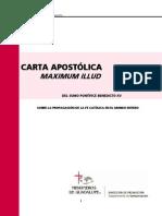 Benedicto Xv 1919 Maximum Illud Carta Apostolica