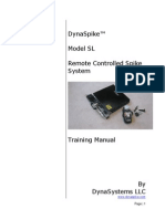 Training Manual DynaSpike Model SL