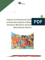 Carpeta Sobre Atencion a Violencia Escolar_Veracruz