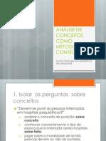 Slide - Análise Conceitual - Técnicas