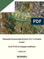 """Memoria de la Ordenación Pormenorizada del sector P.51 """"La Peraleda Grande"""""""