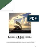 Lo Que La Biblia Enseña