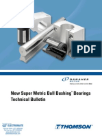 Thomson Super Metric Ball Bushing Bearings Specsheet