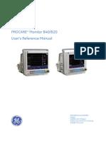 GEHC Service Manual PROCARE B40 B20 Monitor