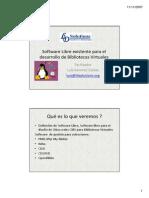 Software Libre y Herramientas Web Para Bibliotecas