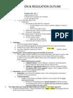 Legislation & Regulation Outline Fall 2013; Ellman
